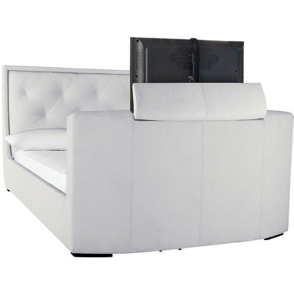 estates faux leather tv bed frame with mattress options buy and - Adjustable King Size Bed Frame