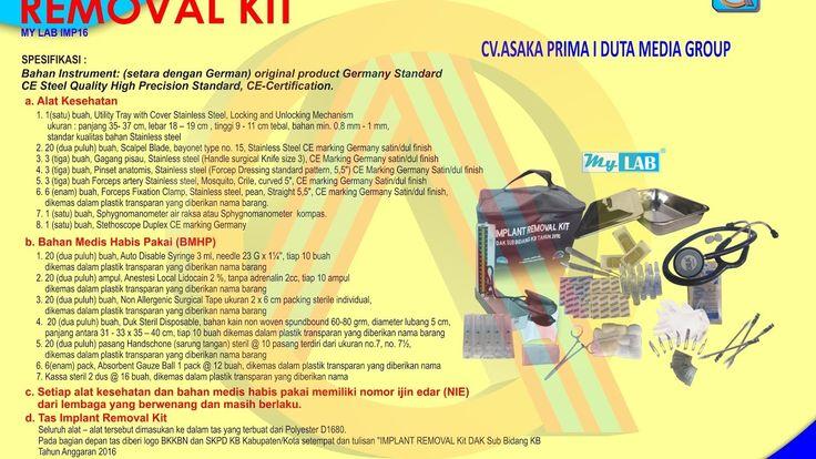 Implant Removal Kit BKKBN 2017 ~Alat Kesehatan DAK BKKbN 2017 ~ HP.0877-...