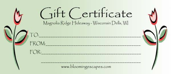 gift certificates forms - Template