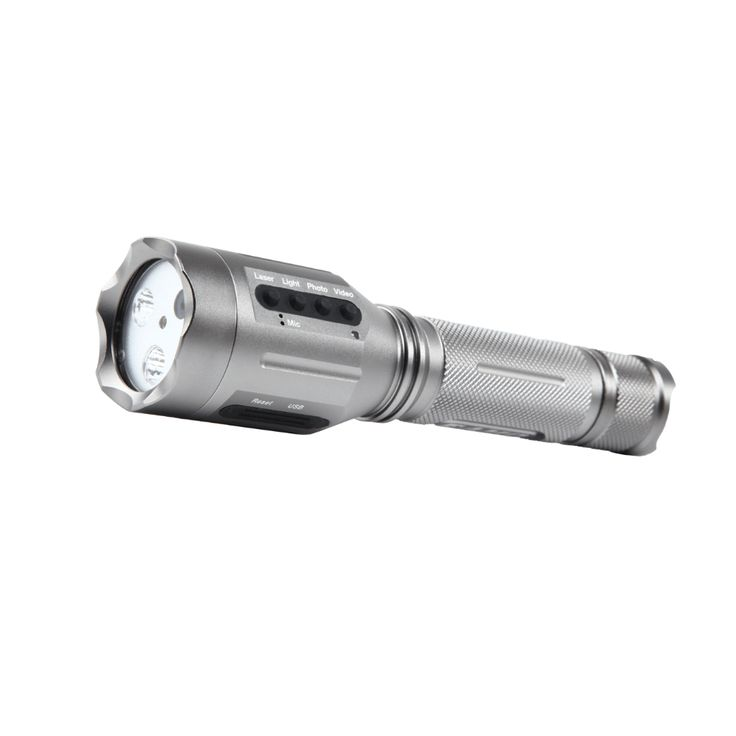 AT-FL3100 police video surveillance flashlight with laser and built-in camera, support for photo taking, video recording, audio recording and lighting together.  The ability to document a real time scenario under low/no light conditions make it has wide applications for evidentiary / police forensics use. Compact size for carrying. Equipped with built-in rechargeable battery.  Very suitable for police night illuminating, evidence recording and security patrol.