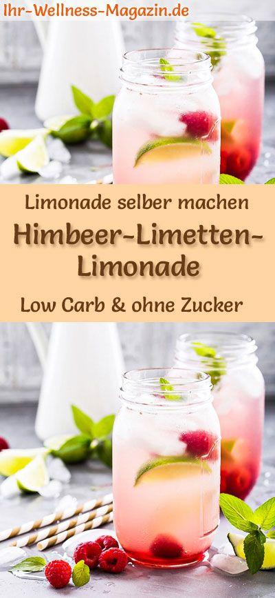 Himbeer-Limetten-Limonade selber machen – Low Carb & ohne Zucker