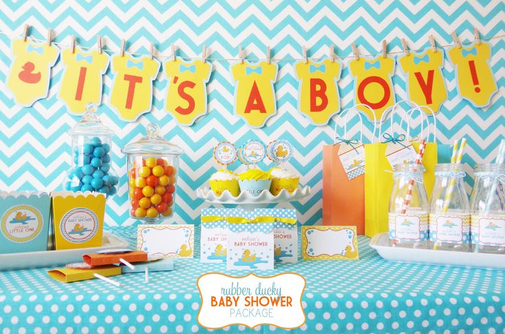 Take the guesswork out of planning your next shindig and leave the details to us! Our Rubber Ducky Baby Shower Package includes everything you need to add boatloads of handmade charm to your celebrati