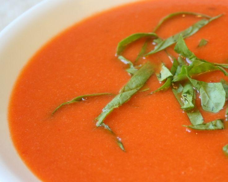 Sopa de Feijão Branco, Pimentão e Rúcula