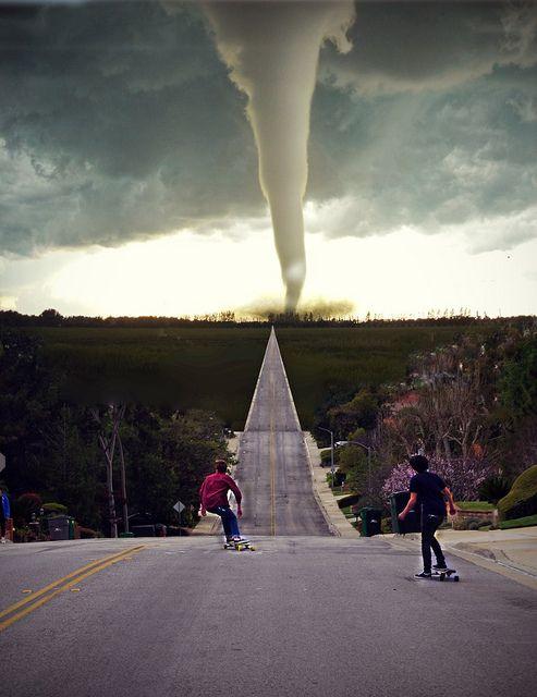 Denying the tornado...