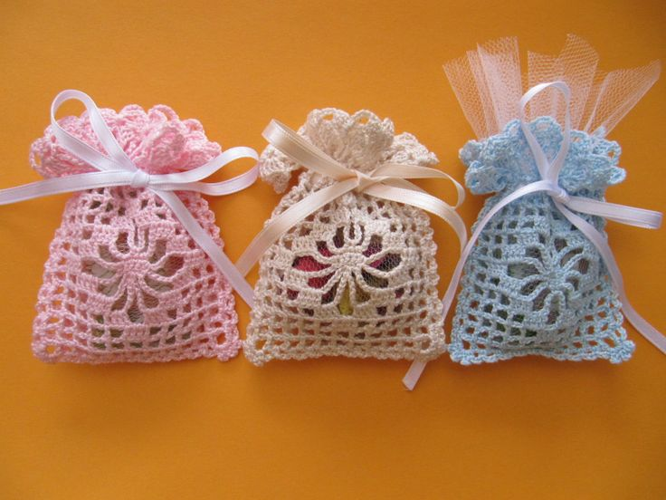 crochet gift pouches - for those occassions where we can do a double bonanza - gift within a gift
