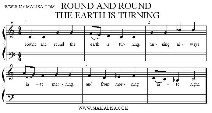 Round and Round the Earth is Turning. Round Song in Dorian mode and an English Folk song! Three in one.