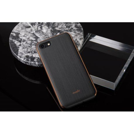 Husa iPhone 7, 8 Moshi iGlaze Hardshell Armour Black