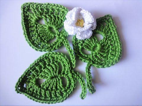 Vida com Arte | Toalha de Banho com Folhas e Flores em Crochê - 21 de Março de 2015 - YouTube