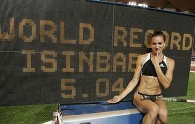 Yelena Isinbayeva  Saut à la perche Russie et son record du Monde
