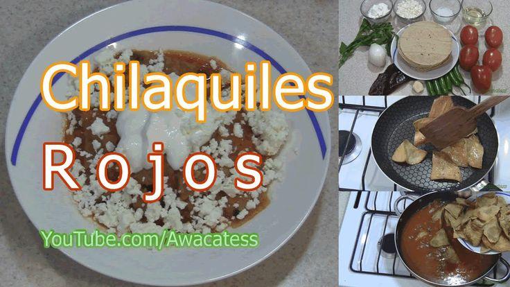 Chilaquiles Rojos, Como hacer Chilaquiles Rojos, Receta de Chilaquiles, ...