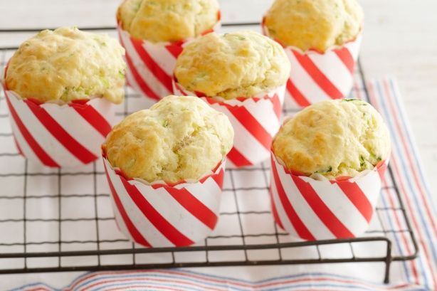 Fill lunch boxes with these savoury zucchini, bacon and parmesan #muffins