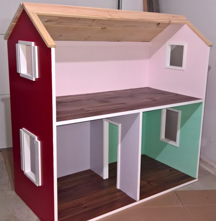Beautiful Ana White | 2 Story American Girl Dollhouse   DIY Projects