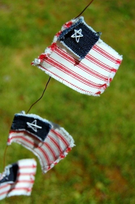 Independence Day Flags fourth 4th of july stars and stripes red white and blue garland banner bunting