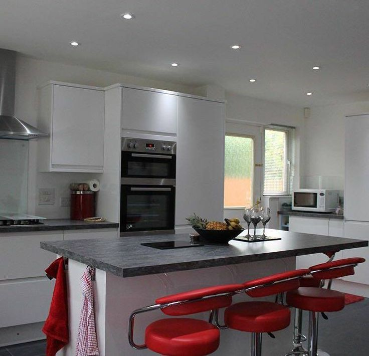 Trend Add a pop of colour to your kitchen with accessories this gorgeous red and whiet