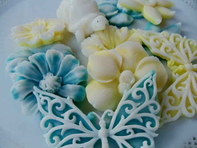 Baby Shower Favors Flowers ~ Butterfly turtles flowers soap gift for woman hostess
