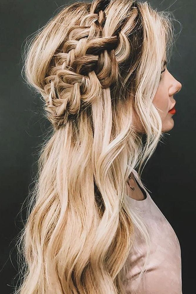 53 Popular Medium Length Hairstyles With Bangs in 2019 in 2020 | Prom hairstyles for long hair ...