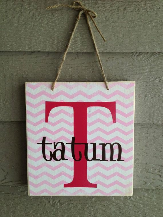 Little boy girl chevron child name board wall by stickwithmevinyl, $15.00