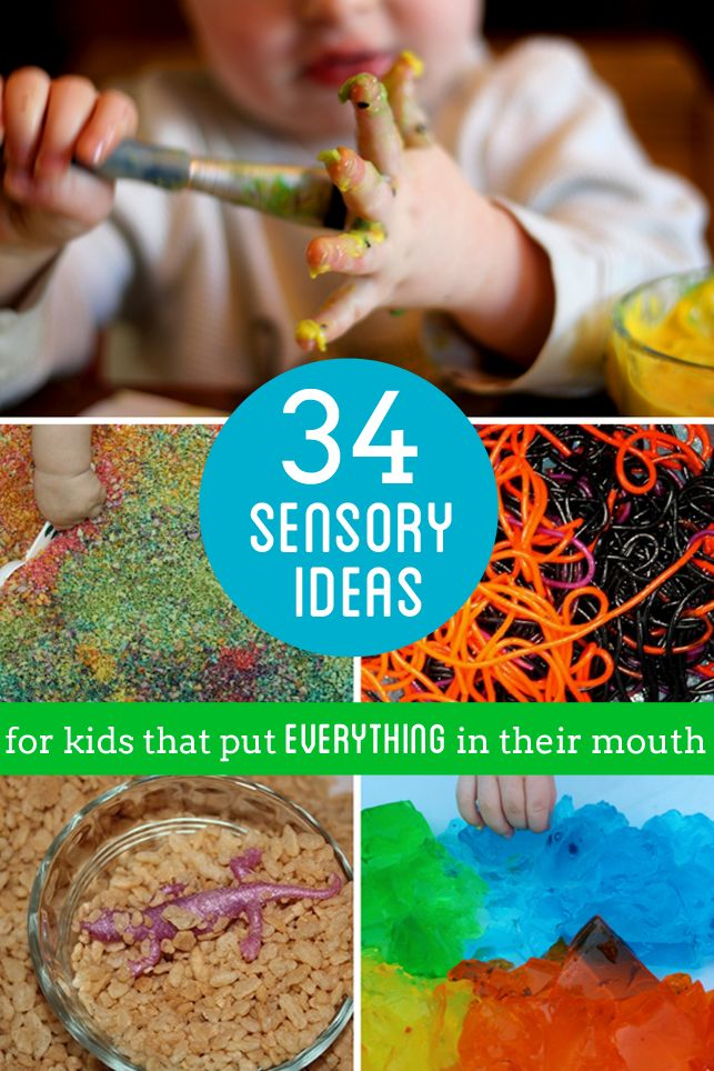 34 edible sensory play ideas for our kids that still put everything in their mouth! Grab most of these sensory materials from the pantry!