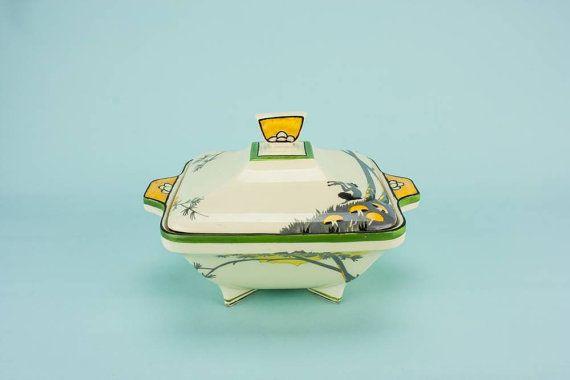 Art Deco Elegant Pan Gift Burgess Leigh TUREEN Kitchen Pottery