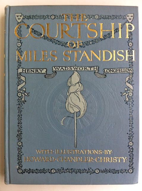 the courtship of miles standish by henry wadsworth longfellow beautiful antique books