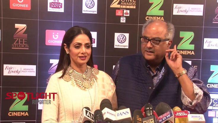 Sridevi And Boney Kapoor At Zee Cine Awards 2017
