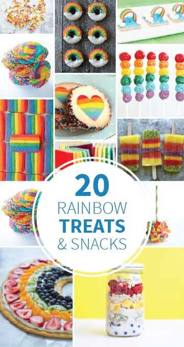 These 20 Rainbow Treats and Snacks are perfect for summer birthdays, cookouts, or any day you just want to do something special for your kids! Whether you're looking for a fresh fruity treat or a yummy baked good, you'll find the perfect recipe.