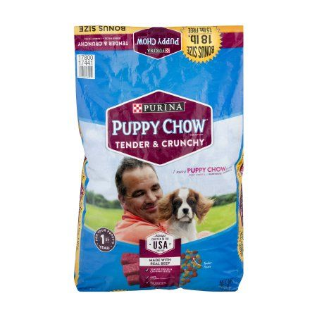 Purina Puppy Chow Tender and Crunchy Puppy Food 18 lb. Bonus Bag, Multicolor