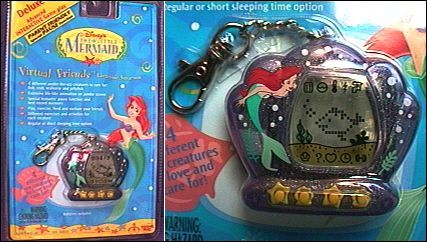 The Little Mermaid Virtual Friends Electronic Aquarium in clear purple. We had a long life together. My mom even helped me take care of her.