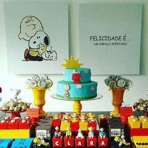 Decor @drieulalia #festasnoopy #festasnoopyideias #snoopy #festainfantil #babygirl #babyboy #turmasnoopybiscuit #cooking ...