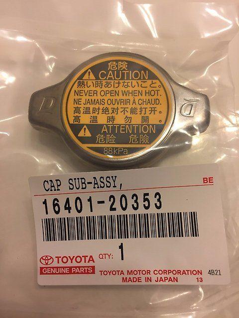 16401-20353 Крышка радиатора Toyota оригинал Япония, отправка, в наличии - Продажа автозапчастей в Томске
