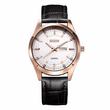 DOM Brand Luxury Diamond Genuine Leather Men Watch DESCRIPTION SHIPPING & PAYMENT WARRANTY	STYLE GALLERY	Q&A WHOLESALE INQUIRY DOM M-2628 is fashion and luxury for men to wear. Shiny rhinestones, modern scale and 3D watch dial, quite classic and show men's elegance. Suitable for both business and casual occasions. You really cannot miss it!  Features: 3D steric dial, shiny rhinestone in scale, quite luxury. Luminous analog to watch time at night. Mineral glass mirror is wear-resistant…