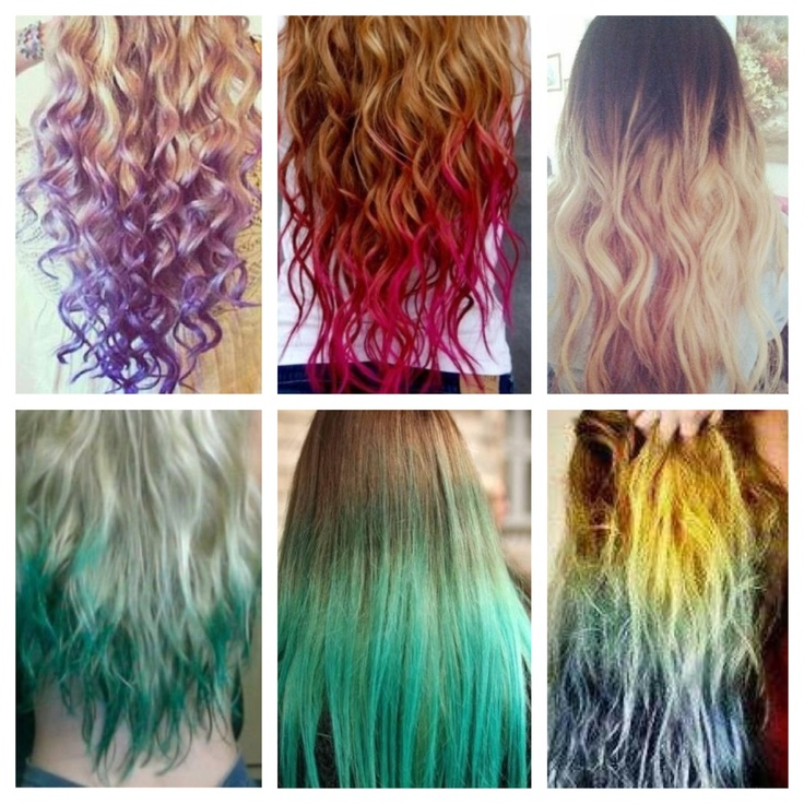 Different colored hair