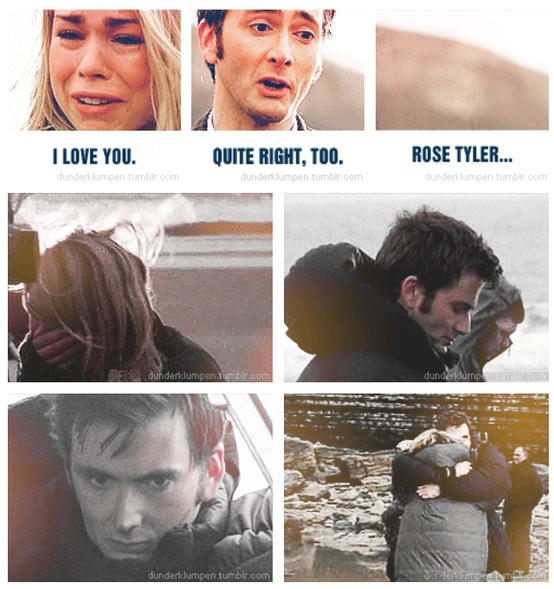 Billie Piper breaks down during the filming of her final season of Doctor Who, and David Tennant comforts her.<--- See that? On the ground shattered into a million pieces that you just stomped on? IT'S MY HEART!!!