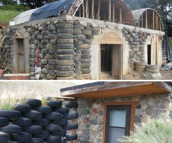 Tire House Bottle House Pop Can House Scrap Metal House