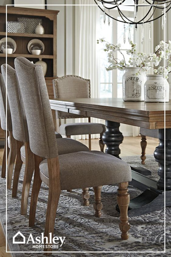 Get that dining room you've been dreaming of with pieces from Ashley HomeStore. It shouldn't cost an arm and a leg to design your version of the perfect dining room, and with Ashley HomeStore, it won't. Visit their website at AshleyHomeStore.com today and start making your design dreams a reality.