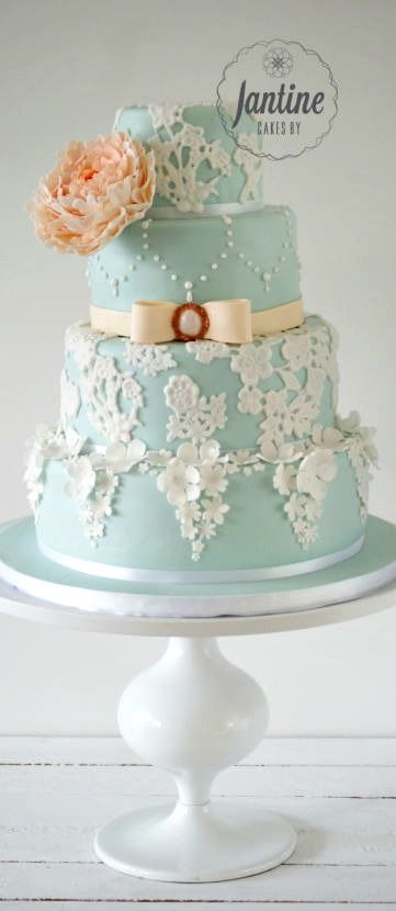 Indian Weddings Inspirations. Blue Wedding Cake. Repinned by #indianweddingsmag indianweddingsmag.com #vintage