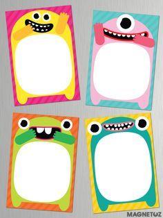 Pizarras Imantadas! Son 4 modelos diferentes de monstruos, ideal para SOUVENIR!