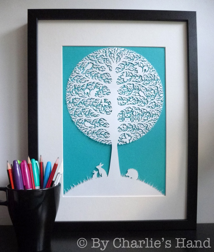 173 best trees images on pinterest papercutting family for Beautiful paper cutting art