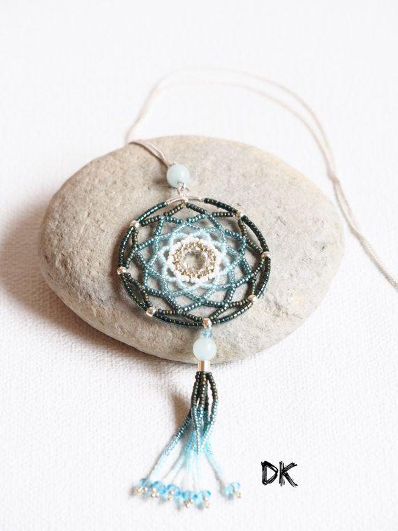 collier argent collier attrape-rêve collier par DKreationKitti