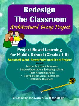 Classroom Re-Design Group Project using MS Word, PowerPoint & Excel