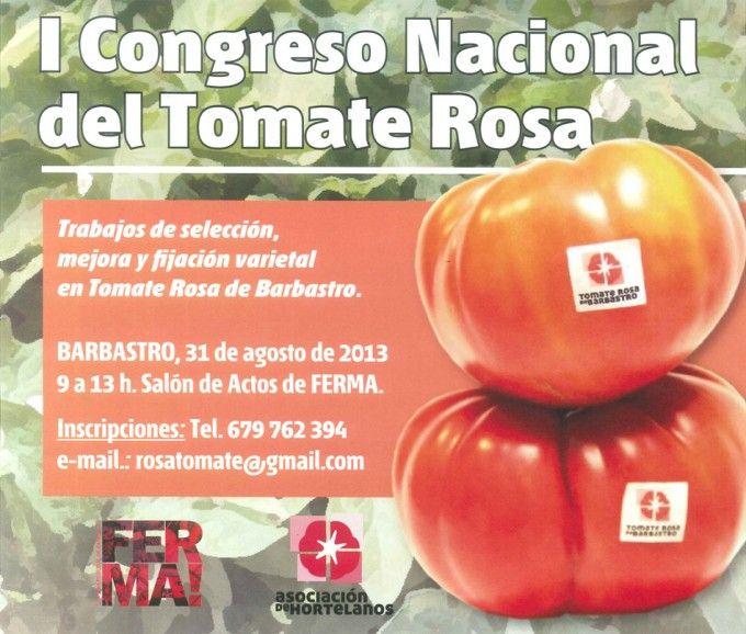 I Congreso nacional del tomate rosa 2013