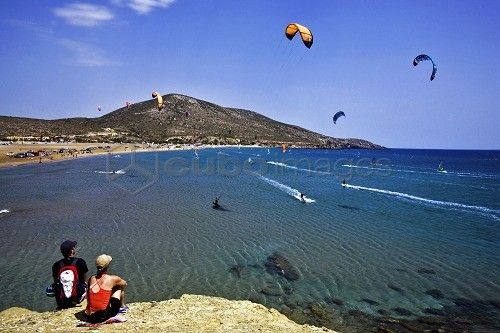 Kitesurfing, Prasonisi, Rhodes Island, Dodecanese, Greek Island, Greece