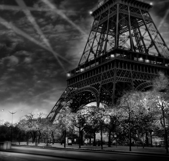 Eiffel tower photographed by jean michel berts gelatin silver print numbered and signed by the artist