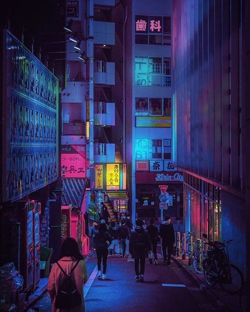 Shibuya Nights / 渋谷区 / Bouncing Lights / 00:13:27 / #repost / Lost in Translation / 🎵 @grimes - Genesis.mp3 / Buy: Society6.com/liamwon9