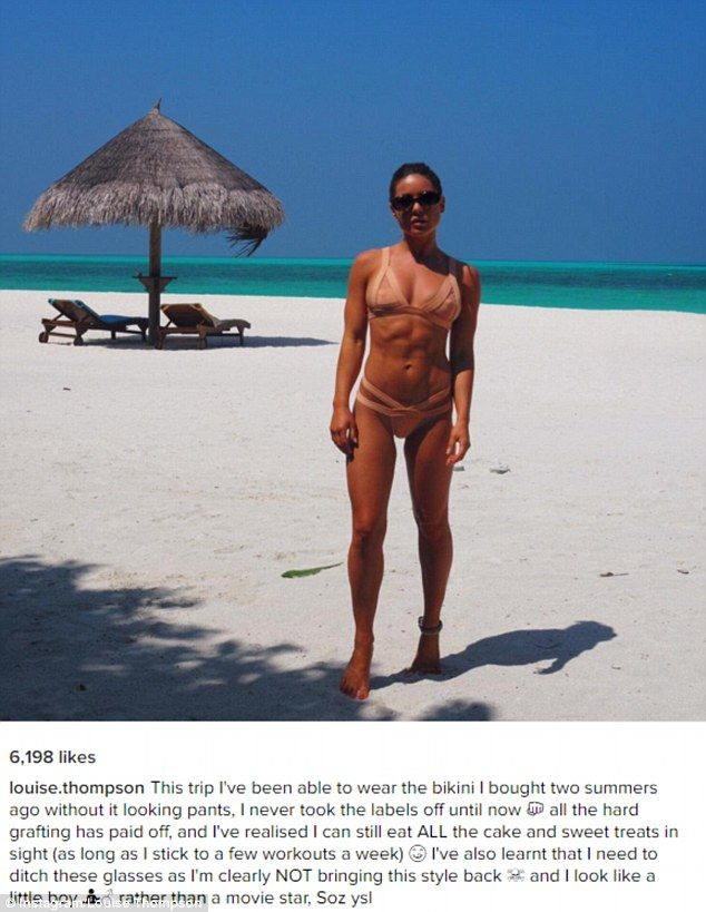 'I never took the labels off until now': Louise Thompson finally got to wear a tiny nude ...