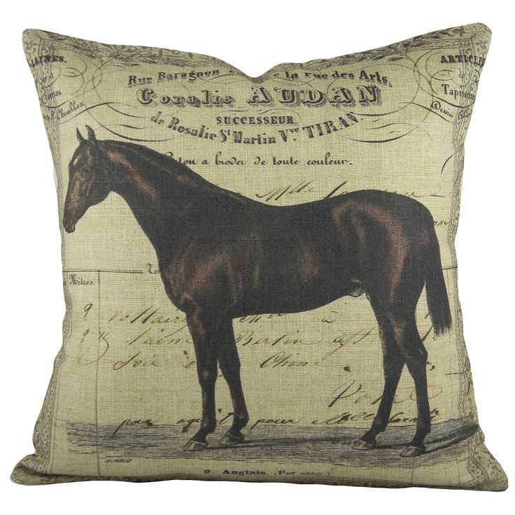 TheWatsonShop Horse Cotton Throw Pillow