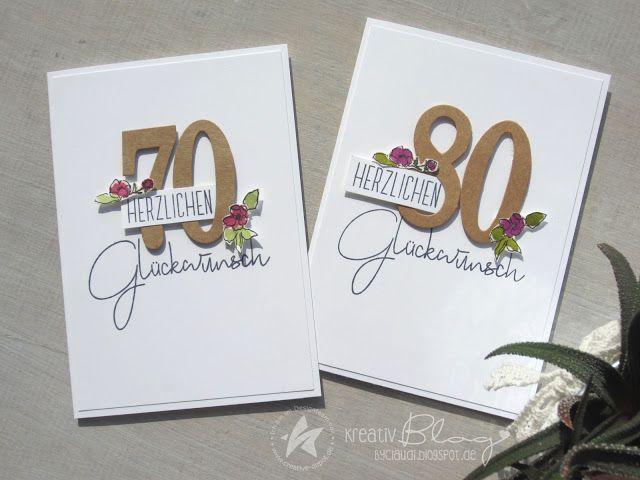 Skizzen Blumen zum runden Geburtstag (Kreativ Blog by Claudi)