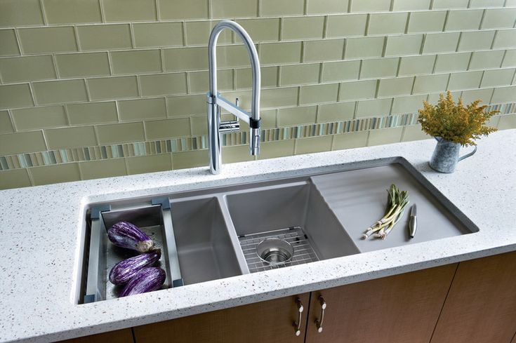 How to choose the right kitchen sink - - great info on everything from size and shape to materials and accessories