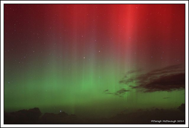 Northern Liughts display on 27 February 2014. Daragh McDonough, via Flickr