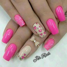 Unhas para o dia dos namorados ♥ #nails
